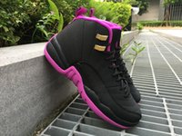 air retro 12 DONNA scarpe da basket Hyper Violet Dark Purple Dust ovo bianco GS Vivid rosa palestra rosso blu universitario TAXI sneakers sport