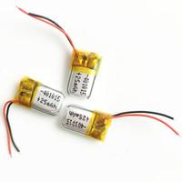 pilhas de bateria lipo venda por atacado-Atacado 3.7 V 25 mAh 401015 Polímero De Lítio LiPo Bateria Recarregável pilhas de Energia Para Mp3 Mp4 PAD DVD DIY E-livros bluetooth fone de ouvido