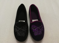 Wholesale Wholesale Wind Shoes - Brand woman shose 2017 new arrival Chinese wind fine embroidery single shose fashion trend with flat shoes
