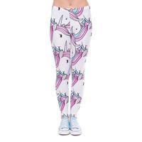 Wholesale Ladies Waist Bands - Women Leggings Unicorn 3D Graphic Print Girl Skinny Stretchy Pencil Pants Lady Sportwear Elastic Waist Band Capris Yoga Trousers (J41609)