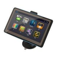 Wholesale Lcd Gps Navigation Bluetooth - Wholesale-2016 Black TFT LCD Display New 7 Inch Car GPS Navigation SAT NAV 8GB Bluetooth Navigator with Sunshade High Quality