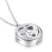 Wholesale Only Chain Necklace - Mom and Child Perfume Locket Cremation Jewelry For Family Loss Urn Pendants Hold Ashes Keepsake Necklace (Pendant Only)