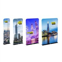 Wholesale Rolling Billboards - Floor Banner Stand with Steel Plate Base Tension Fabric Graphic Portable Carry Bag New Come E03C7