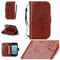 Wholesale S3 Flip Case Retail - Samsung Galaxy S3 Mini I8190 Case - Luxury PU Leather Wallet Shockproof Case Flip Bracket Cover with retail package