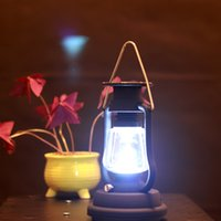 Wholesale Solar Charging Led Flashlight - Retro Lantern Lamp Flashlights Solar Hand Crank Dynamo Powered High Brightness Reading Lamp USB Charging For Camping Coffee