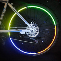 Wholesale Hot Wheels Stickers Bikes - Hot Mountain Bicycle Bike Motorcycle Wheels Rims Warning Reflective Sticker Strips Ourdoor Sport Equipment 5pcs lot Free Shipping