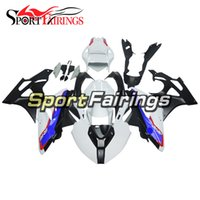 Wholesale Motorcycle Race Fairing Kits - Injection Racing Fairings For BMW S1000RR 11 12 13 14 ABS Plastic Motorcycle Full Fairing Kit Cowling White Blue Body Covers Frames Carene