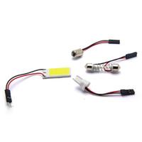 ba9s koçanı açtı toptan satış-Büyük Promosyon T10 24 SMD COB LED Panel c5w Beyaz Araba Oto İçişleri Okuma Haritası Lamba Ampul Işık Dome Festoon BA9S 3 Adaptörü 12 V