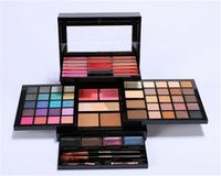 HOT Profusion Make-up-Sets Pro-Höhen-Kit Creme Lip Gloss Highlither Blush Lidschatten-Palette mit Pinsel