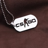 Wholesale Neckless Man - Wholesale-Games CS GO Stainless Steel Link Necklace For Men CSGO Anime Neckless Male Collier Homme Best Friends Statement Bijoux Jewelry