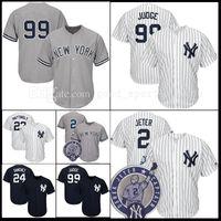 Wholesale Yankees Jersey Black - Men's New York Yankees 99 Aaron Judge 2 Derek Jeter 24 Gary Sanchez Matting Stitched Authentic Baseball Jersey Flexbase Cool Base jerseys