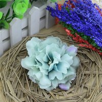Wholesale large silk roses - 10pcs 8.5cm Large Silk Rose Artificial Flower Head For Wedding Decoration DIY Garland Decorative Real Touch Peony Fake Flowers