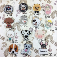 Wholesale New Mixed cartoon dog acrylic brooch badge Kids Party Gift A