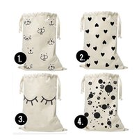 Wholesale Cute Bear Fabric - Heart Bear eyelash Pattern Laundry Bag Pouch,Canvas Storage Bag for Toys Clothing,Baby Kids Toys Storage Bag Cute Wall Pocket