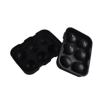 Wholesale Hole Maker - Six Hole Ice Cube Ball Mold Ice Hockey Wine Tray Spherical Silicone Mould Home Party Bar Supplies 2pcs Free china post