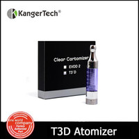Atacado-5pcs / lot kanger genuíno T3D atomizador T3D Clearomizer Kangertech dupla bobina eGo 510 Thread tanque VS T3S Atomizer e cigarro (MM)