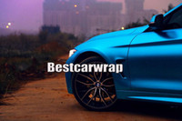 Wholesale decals for vehicles - Titanium blue Satin Chrome Car Wrap Film Vinyls with air bubble Free For Luxury Vehicle Graphics CAST VINYL decals covering foil 1.52x20m
