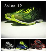 Wholesale green gel - 2017 Wholesale Asics Gel-Nimbus 19 Original Running Shoes T700N-9007 9099 9023 4907 Men Top Basketball Shoes Boots Sport Sneakers Size 40-45