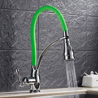 Wholesale Spring Pull Out - E-pak Best Kitchen Faucet Pull Down Spring Spout Hot Cold Mixer 2 Function Sprayer Deck Tap
