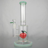 Wholesale apple bongs online - Bong Glass Bongs Dab Rigs with Red Apple Inner Glass Bubbler Water Pipes with mm Joint Glass Bowls