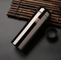 Wholesale High Quality Thermos - Wholesale- New Genuine Titanium 304 Stainless Steel Vacuum Thermos Cup bottle For male female business cup Of High-grade quality gifts