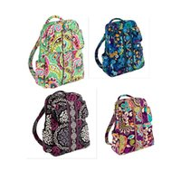 Wholesale Backpack Small Light - VB Small backpack campus backpack Cotton Flower School Bag Backpack School Bag Travel College 100% real