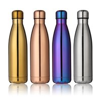 outdoor wall plates - Double Wall Coke Bottle Plating Stainless Steel Water Bottles Heat Resistant Drinking Cups Cola Kettle Easy To Carry For Outdoors yd A