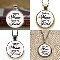 Wholesale friends forever bracelets - 10pcs Mother's Day first my mom forever my friend Necklace keyring bookmark cufflink earring bracelet