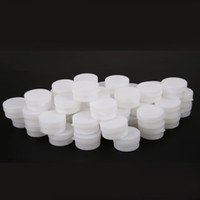 Wholesale Empty Plastic Pots - Portable 1000pcs 5g 10g Mini Refillable Bottles Cosmetic Empty Cosmetic Jar Pot Eyeshadow Face Cream Container Box White