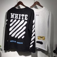 Wholesale Men T Shirt Mix - New Collection Off-White C O Mirror women men t shirt summer mix style long sleeve t-shirts tee fasgion hoody sweatshirts Virgil Abloh