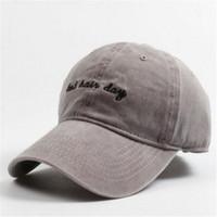 Wholesale bad hair - Fashion Women Fitted Baseball Cap Men Hiphop Cap Casquette Snapback Caps Hats For Men Brand Bone Vintage Bad Hair Day Adjustable Caps New