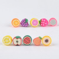 Wholesale Iphone Accessories Earphone Plug - 100 pcs Fruit Charm Phone Anti Dust Plug Cell Phone Accessories For Iphone SE 5 6 6S 3.5mm Earphone Jack Plug for samsung galaxy s6