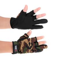 Wholesale Winter Yoga Wear - Outdoor Anti-slip Breathable Wear Resistant 3 Low-Cut Fingers Fishing Gloves Y1248