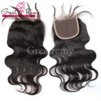 "Wholesale parts outlet - 100% Brazilian Unprocessed Virgin Human Hair 8""-26"" Natural Color Body Wave Retail 1 piece Top Closure 4*4"" Hairpieces Factory Outlet"