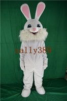 Wholesale High Quality Rabbit Costume - New Easter white rabbit mascot high quality cartoon costume personalized custom dress party free delivery factory direct sales