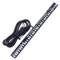 Wholesale Led Strips For Motorcycles - Universal Flexible Integrated Running Brake Turn Signal 33 SMD LED Tail Light Strip for Motorcycle License Plate