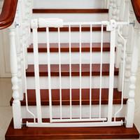 ingrosso porta porta dei bambini-Baby Playpens Pet Door Stair Recinzione Easy Close Metal Gate Barriere di sicurezza 76x71 CM Protezione bambino sicuro Controllo dell'animale domestico Impostazione rapida