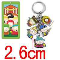 Wholesale South Park Mini Figures - Anime South Park action figure toys keychain pendant cartoon mini model dolls kids kawaii toys Christmas gifts