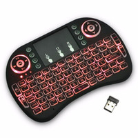 Wholesale Game Backlit Keyboard - Mini Keyboard Backlit Mouse Multi-touch Pad 2.4G Rii i8+ Wireless Game Keyboard Fly Air Mouse Remote for MXQ Andriod TV Box IPTV