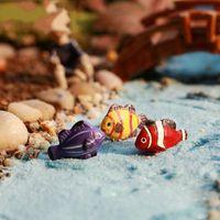 Wholesale Miniature Fish - 2Pcs Tropical Sea Fish DIY Resin Fairy Garden Craft Decoration Miniature Micro Gnome Terrarium Gift