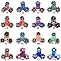 16 Couleurs Camouflage Fidget Spinner Gyro Enfants Décompression Anxiété Jouets Tri-Spinner Camo Hand Spinner EDC Toys