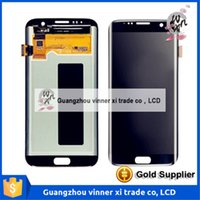 Wholesale Hk Panels - HK Free shipping For OEM LCD Screen and Digitizer Assembly for Samsung Galaxy S7 edge G935 - black Silver