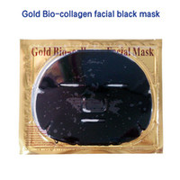 Wholesale Crystal Collagen Bio - 2017 Gold Bio-Collagen Facial Mask Crystal Bone Collagen Black Mask Moisturising Face Mask Whitening Anti-wrinkle Black Masks