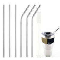 Wholesale Metal Straws Wholesale - 25pcs Stainless Steel Straws Durable Reusable Metal 8.5inch-10.5inch Extra Long Drinking Straws for 20oz 30oz Yeti Tervis Tumbler Cups