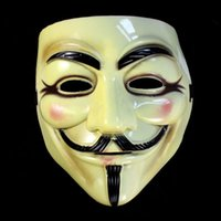 Wholesale Vendetta Masks For Sale - Hot Sales Halloween Theme Masquerade Parties Masks Face Mask V For Vendetta Fawkes Fancy Dress Mask Hot Sales