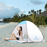Wholesale Ultralight Tents Backpacking - Outdoor Automatic Opening Beach Tent Shelter Ultralight Folding UV-Protective Sun Shade for Outdoor Camping Fishing Free Shipping