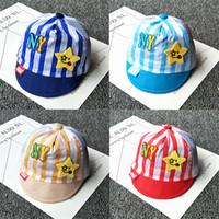 Wholesale Baby Girl Stocking Hats - NY Summer Newborn visor cap cotton mesh adjustable 38~41cm cute ear 0-12M Baby Boy Girl Kid Toddler Infant Hat wholesale in stock