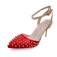 Wholesale Hot Sexy Office Wear - summer hot style round head light mouth wear-resisting breathable antiskid sexy female banquet high heels Thin heel