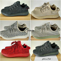 Wholesale Red Womens Oxfords - Kanye West boost 350 shoes pirate black boosts 350 boost turtle dove mens womens moonrock oxford tan Red October sport running shoes sneaker