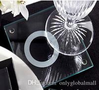 Wholesale Unique Stackable Rings - wedding favor,souvenirs for wedding--With This Ring Unique Stackable Glass Coasters